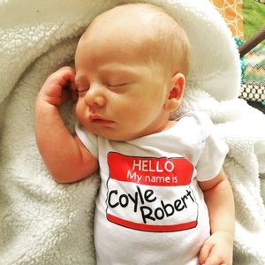 Other - Hello My Name Is Onesie! Perfect for newborns!